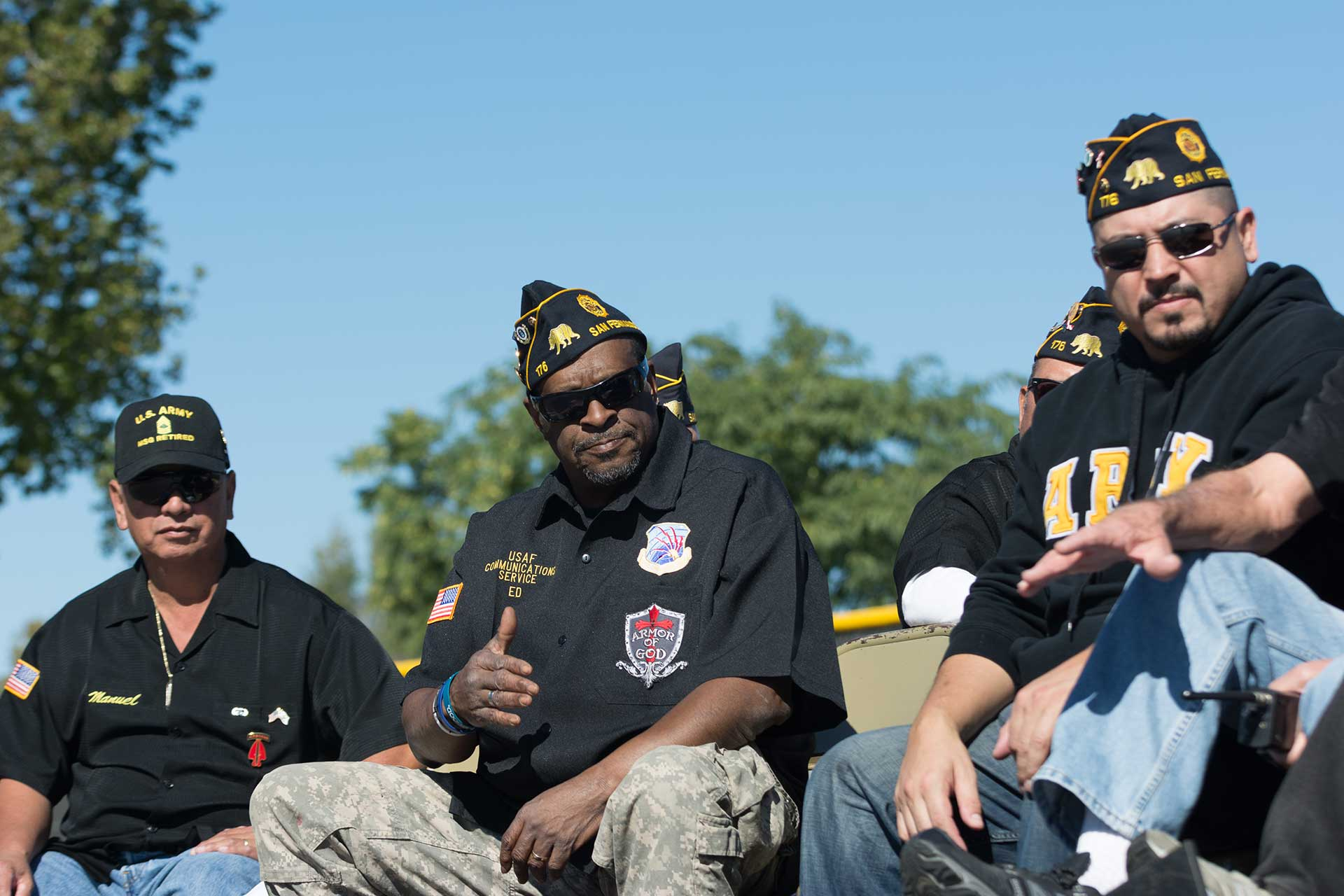 Image of veterans sitting together