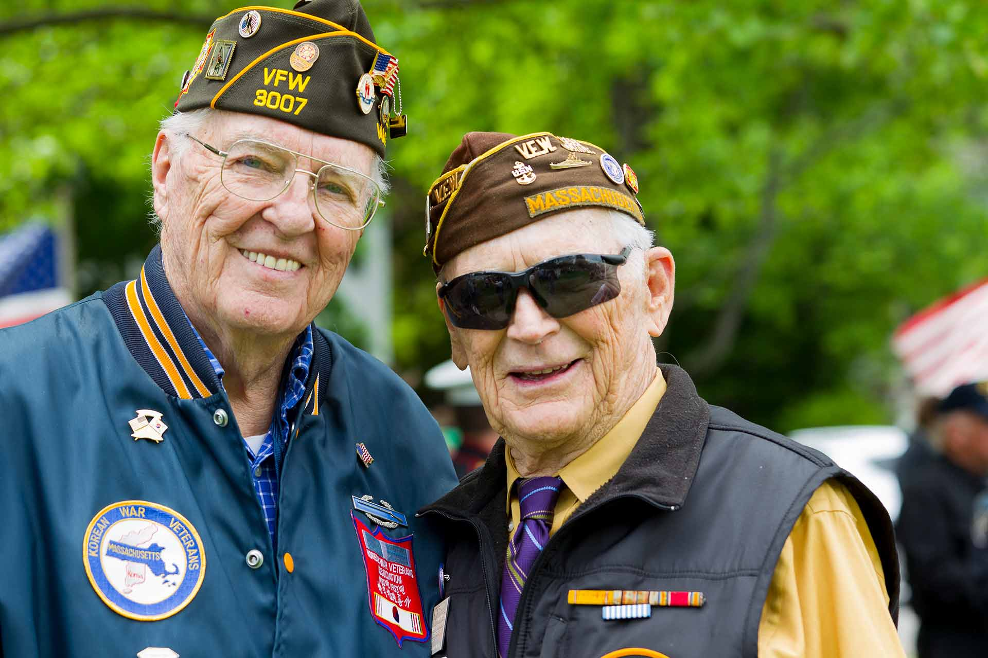Image of proud veterans