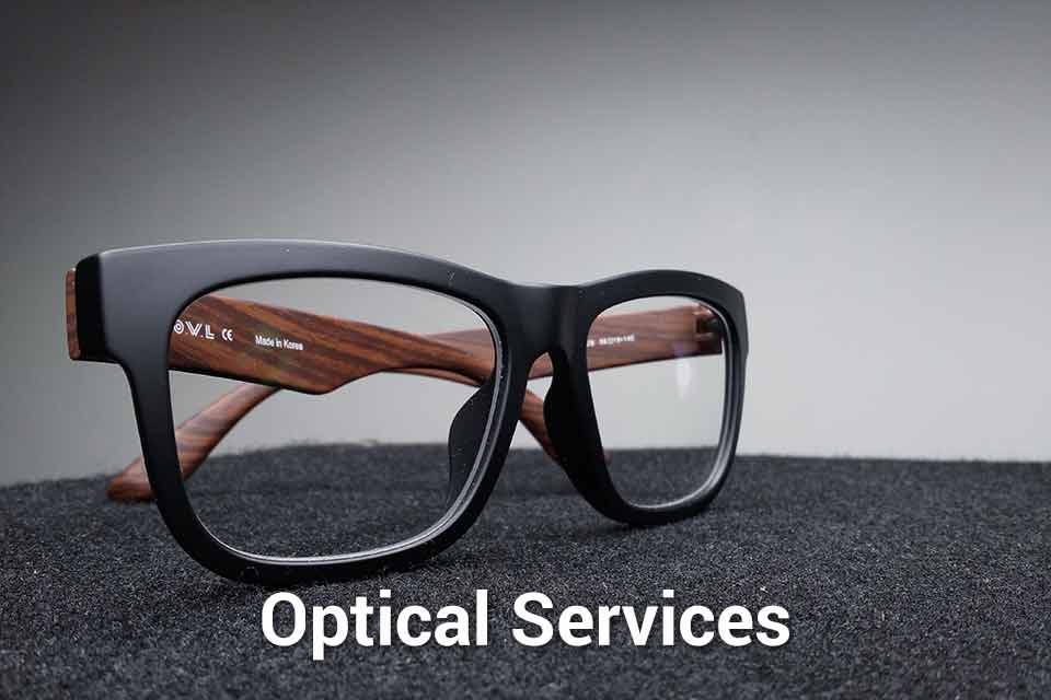 Button to learn about optical services offered to veterans at Chicago Standdown